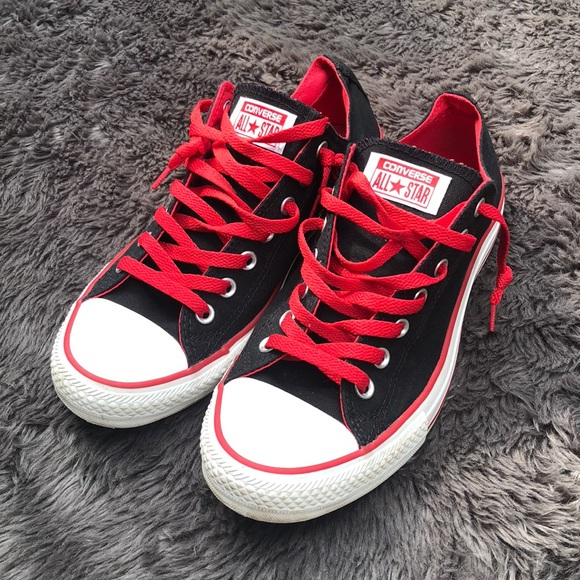 8c88e7f3d229 Converse Other - Black   Red Converse Chucks Men s 10